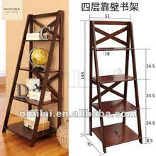 2012 high quality modern tower wooden bookshelf