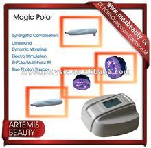 Portable dynamic vibrating multi-polar rf machine re-tone face