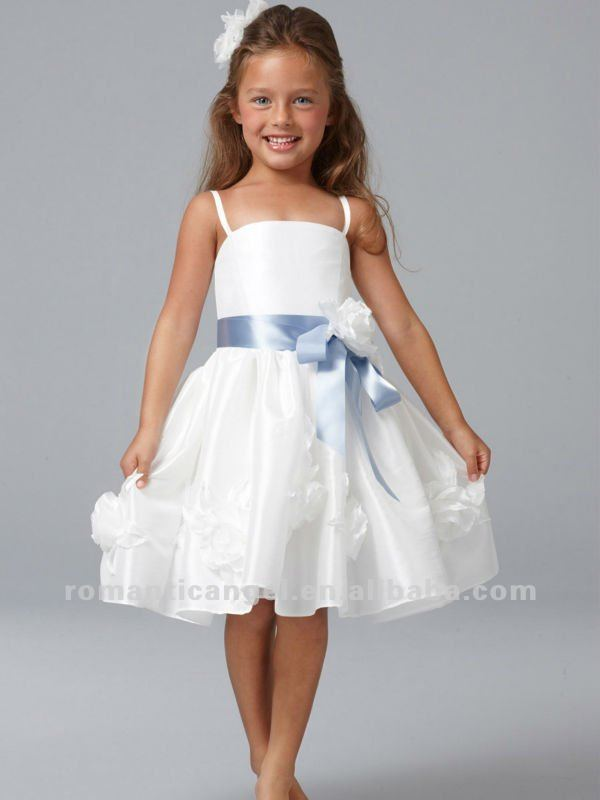 Lovely beach wedding flower girl dress buy flower girl for Flower girl dress for beach wedding