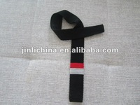 Knitted neck tie black and red color men necktie