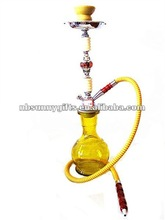 2012 Low price yellow beautiful middle shisha crystal Acrylic Iron 8044
