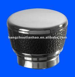 Zinc perfume cap leather