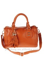 2012 Korean crocodile fringed genuine leather cheap shoulder bags