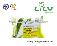single sachet intimate cleaning wet wipes