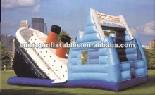 inflatable combo slide games with the best quality and 0.55mm pvc PLATO material