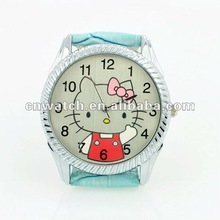 Latest Original leather strap hello cat watch