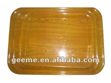 dinner set: melamine tray with wooden kind of decal(3 pcs)