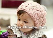 New Autumn winter baby hat bonnet style kid crochet cap lovely infant's headwear,Hot Sale ,Christmas Gift