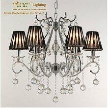2012 Elegant Fabric Shade Crystal Chandelier Light By Meerosee Lighting