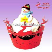 Mini Deer Chrismas Cupcake picks decorations wrappers