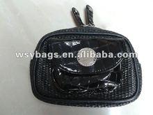 ladies fashion straw cosmetic bag