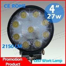 2012!HOT!SUPER! LED WORK LIGHT 27W LED Lamp LED work light/Jeep Off road ATV SUV Boat LED Driving Light Headlight Led Tail Light
