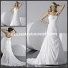 WD1513 Strapless Straight Neckline Pleating Bodice Chapel Train Chiffon Wedding Dress Patterns Free