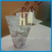 Handing Plastic bags/Plastic Flower Bags sleeve for retail packaging
