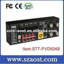 4 Channel Passive Video Balun w/ Power & Data Model:STT-PVD504B