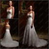 CB-1923 Beautiful A-Line Sweetheart Halter Unique Wedding Dresses