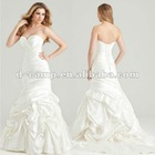 WD-550 Strapless deep sweetheart neckline kebaya modern wedding gown bridal gown