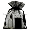 Plain Black organza promotional pouch for gift and jewlly