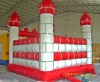 red and white inflatable castle bouncer for kids