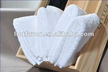100% cotton plain weave white hotel hand towel