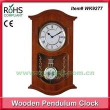 Automatic Night Chime Shut-Off Option 24 Hour Analog Wall Clock