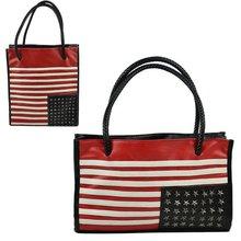 2 Types Square/ Rectangular Flag PU Leather Shoulder Bag lady Satchel Tote Bag