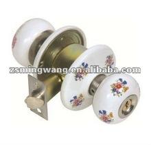Cylindrical ceramic Lock knob lock