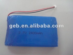 3.7V 2400mAh 503759 PDA, MID and power bank battery cell