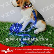 electronic dogs leash colorful customized logo led pitbull dog leather leash
