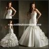 ML050 Amazing Rouched Ruffled Gown Mermaid Bandage Bodice Slim Royal Noble Country Style Wedding Dresses