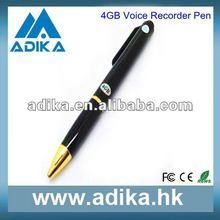 2012 Hot Sale Pen Style 4GB Pocket Audio Recorder