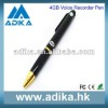2012 Hot Sale Pen Style 4GB Pocket Audio Recorder