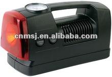 3 in 1 mini car air compressor plastic air compressor, air pump tire inflator with light