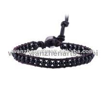 multi color hemp leather bracelet fashion jewlery