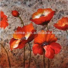 Handmade Interior, Decoration flower Oil Painting on canvas, skilled artist