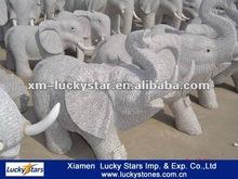 Chinese Grey Granite Elephant Cheap Sculpture