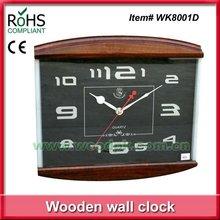 2012 New design quartz analog antique wood clock