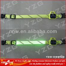 led flashing fashion dog collar for dog training retractable adjustable