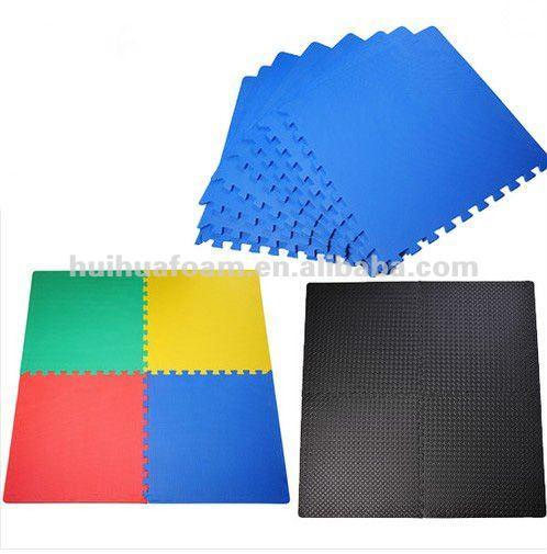 EVA Interlocking Foam Mat Tiles Play Exercise Floor Mats 3 Patterns
