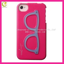 Newest arrival silicone couple case for iphone5 with stereo camera shaped stand holder