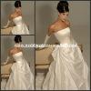 HYD-3010 Inexpensive Strapless Custom Sleeveless Ruffled Skirt Taffeta Bridal Gown Backless Wedding Dress 2012