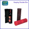 high grade wooden leather wine packing box