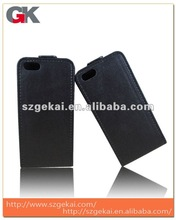 BLACK FlipMatic Easy Clip On Vertical Flip Pouch Case Cover for Apple iPhone 5