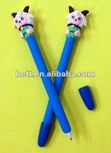 dog polymer clay ball pen