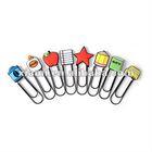 star car cute shaped paper clip pvc & metal bookmark soft pvc pvc clips