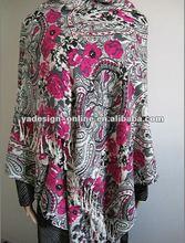S609 cheaper acrylic pashmina;muslim shawl