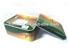 rectangular fruit candy tin can, free samples