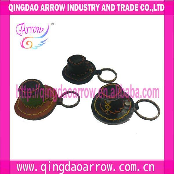 Sombrero de cuero moda llaveros sombrero de vaquero llavero
