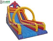 Hot commercial inflatable spiderman slide for sale