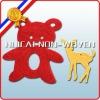 red bear non woven cute pattern felt textiles